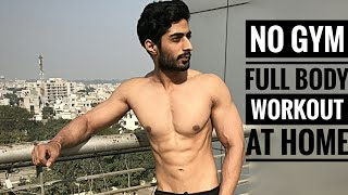No Gym Full Body Workout At Home | Varun Fitness