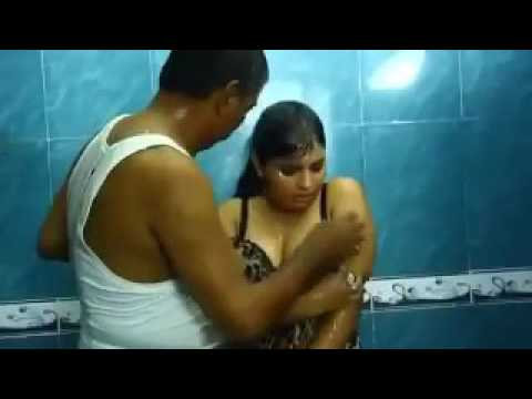 Hot girl romance in bathroom