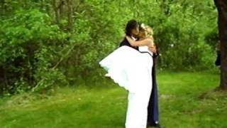 Unique Forest Wedding- Carrying, Kissing, Dancing