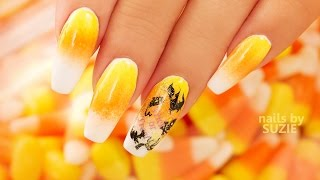 Candy Corn Ombre Nails
