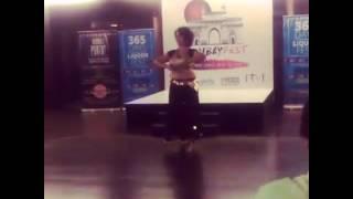 Solo performance on Tabla (zakir) by Urja @Bombayfest 2016 Hafla night (Kathak belly fusion)