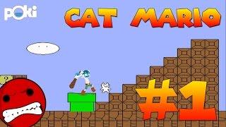 All the Fails! Cat Mario Walkthrough Episode 01, Levels 1 - 3 | Poki Game Movies