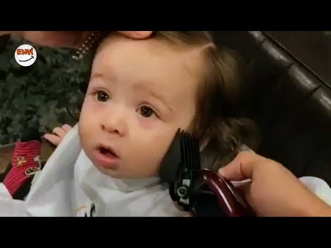 Nisan Ayının En Sevimli Bebeklerin Saç Kesimi Videoları 👶 Komik Bebekler 2018 #envi