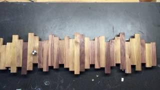 Modern style wooden towel or coat rack build