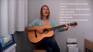 """Cover """"Let your living waters flow over my soul"""", guitar+vocals"""