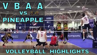 VBAA vs Pineapple VOLLEYBALL HIGHLIGHTS - 2017 USA Volleyball Adult Nationals (Open Division)