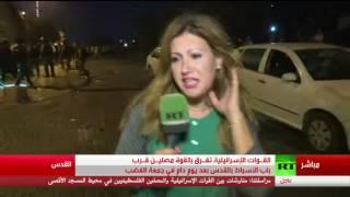 لحظة اعتداء الجنود الإسرائيليين على مراسلة آرتي