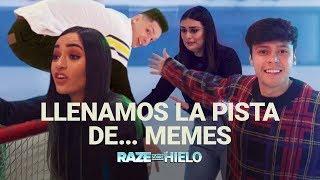 ¡Calle y Poché, PaisaVlogs y Mario Ruiz pusieron a prueba su equilibrio en Raze Sobre Hielo!