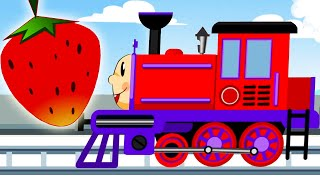 Train for Kids - Play with Fruits - New Cartoon Animation