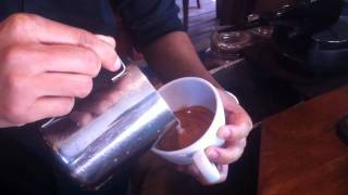 Barista Latte Art (Rosetta) by Pat @Inthanon coffee road ChiangMai