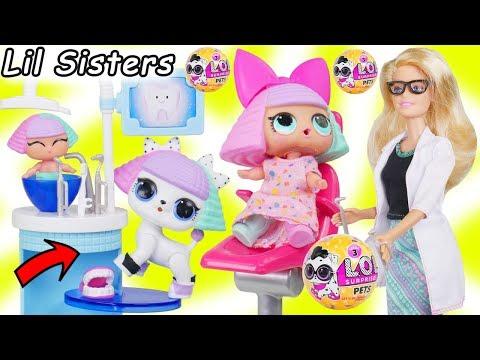 Xxx Mp4 LOL Surprise Dolls Lil Sisters Take New L O L Pets Series 3 Wave 2 To Barbie Dentist Doctor 3gp Sex