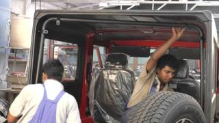 Mahindra THAR HARD TOP FITMENT VIDEO