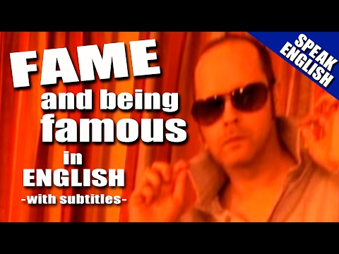 Learn English - English words for fame and being famous - Celebrity English Lesson with Duncan