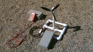 Homemade Wind Turbine Generator! - Wind Power Generator! - simple DIY (runs radio!)