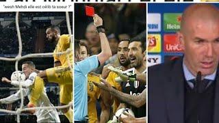 Real-juve: Buffon fracasse Arbitre, zidane parle de buffon, ronaldo defend arbitrage