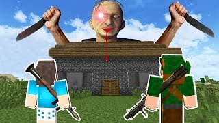 AMIGOS PROTEGEM O MUNDO DO APOCALIPSE DE GRANDPA NO MINECRAFT!!  (GRANDPA THE HORROR GAME)