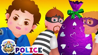 ChuChu TV Police Chase & Catch Thief in Police Car Save Giant Surprise Eggs Toys, Gifts for Kids