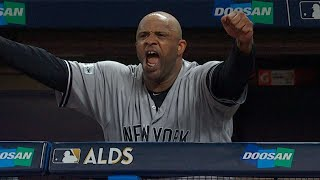 NYY@CLE Gm5: Sabathia strikes out nine in Cleveland