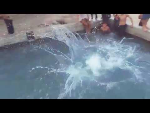 Desi fun in pool... Very funny video..