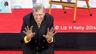 Jerry Lewis LOL Footprint Ceremony with Quentin Tarantino at 2014 TCM Classic Film Festival