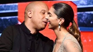 Vin Diesel Kisses Deepika Padukone At Xander Cage Press Conference