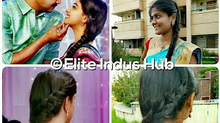 Bairavaa Keerthy Suresh  Hairstyle | Easy Indian Hairstyle for Ethnic Wear