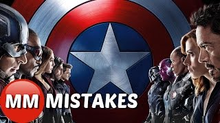 Marvel Captain America Civil War MOVIE MISTAKES You Missed | Captain America Goofs