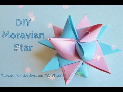 Christmas Crafts - Moravian Star Tutorial - Paper Weaving - Origami Star - Paper Crafts Ornament