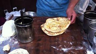 Making Laccha Paratha At A Roadside Dhaba In Punjab