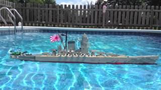 LEGO Battleship Yamato Model Sinking