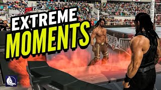 WWE 2K17 EXTREME MOMENTS! (PS4 & XBOX ONE)