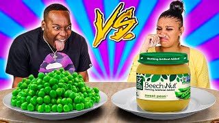 ADULT VS BABY FOOD CHALLENGE!