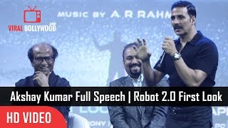Akshay kumar Full Speech | Robot 2.O First Look Launch