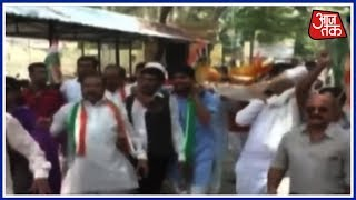 Congress Erupts In Protest Against Raising Fuel Prices Across The Country