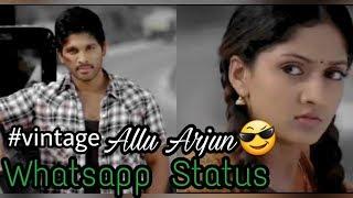 Vintage💞 Allu Arjun Best Whatsapp Status Malayalam   Krishna - Ennennennum Unarave