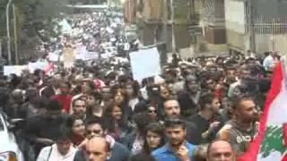 ضد النظام الطائفي في لبنان تظاهرة ضخمة جدا جـ2