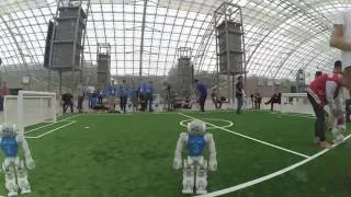 RoboCup 2016 - Outdoor Challenge Round 1 - Nao-Team HTWK Leipzig vs. TJark - Timelapse