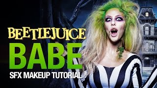 Beetlejuice babe halloween makeup tutorial