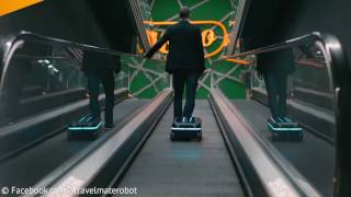 Travelmate Robot Suitcase Moves On Its Own and Follows You