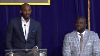 Kobe Speaks at Shaq's Statue Ceremony | March 24, 2017