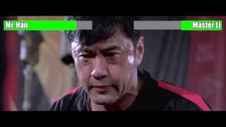 The Karate Kid (2010) - Mr. Han vs. Master Li [WITH HEALTH BARS]