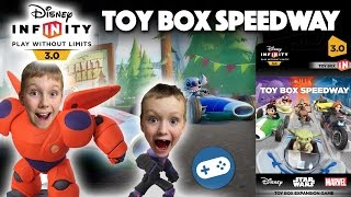 Disney Infinity 3.0 Toy Box Speedway Unboxing and Gameplay