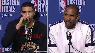 Jayson Tatum & Al Horford Postgame Interview - Game 7 | Cavaliers vs Celtics | 2018 NBA East Finals