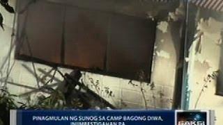 Saksi: Tirahan ng mga pulis sa Camp Bagong Diwa, nasunog