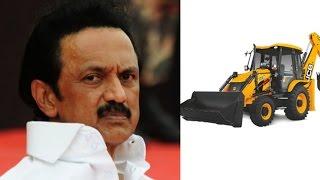 MK Stalin drives JCB - People applauded