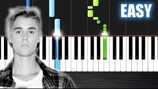 Justin Bieber - Sorry - EASY Piano Tutorial by PlutaX - Synthesia