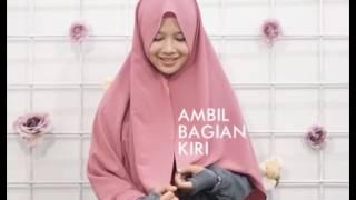 tutorial Khimar Luxy Pinkish hijab alila