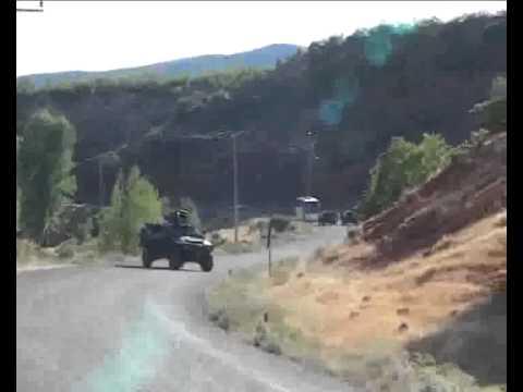 Tunceli'de zırhlı araca roketatarlı saldırı