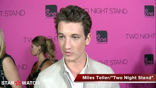 Miles Teller red carpet interview at