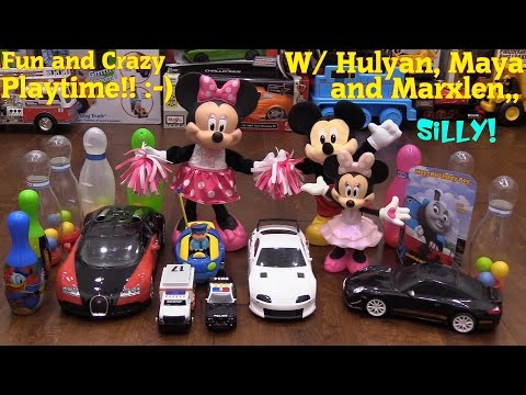 Fun Playing with Toys Disney Mickey Mouse RC Cars Dolls Toy Cars Thomas & Friends etc